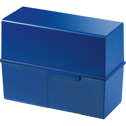 HAN Karteikasten, DIN A5 quer, Kunststoff, blau