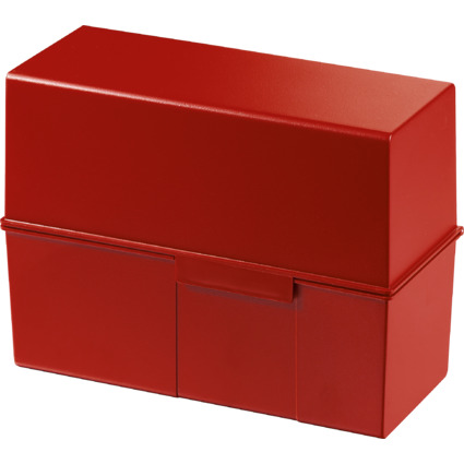 HAN Karteikasten, DIN A5 quer, Kunststoff, rot