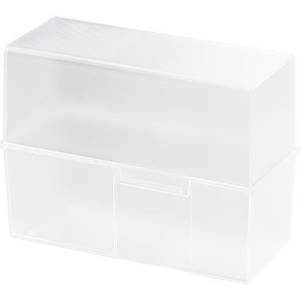 HAN Karteikasten, DIN A5 quer, Kunststoff, weiß-transluzent