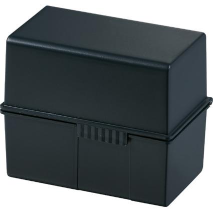 HAN Karteikasten, DIN A6 quer, Kunststoff, schwarz