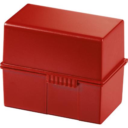 HAN Karteikasten, DIN A6 quer, Kunststoff, rot