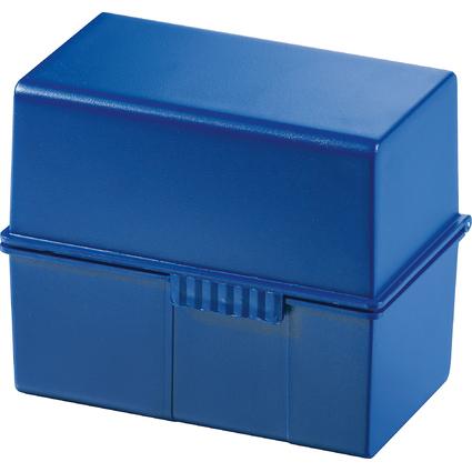 HAN Karteikasten, DIN A7 quer, Kunststoff, blau