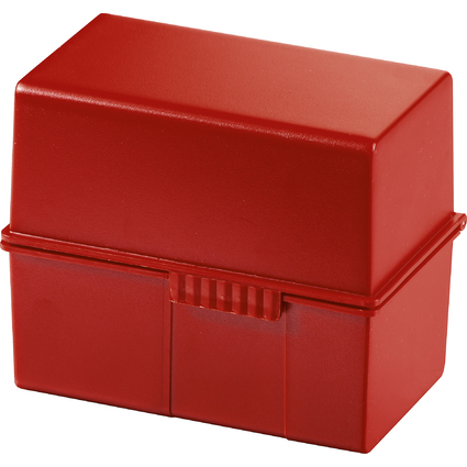 HAN Karteikasten, DIN A7 quer, Kunststoff, rot