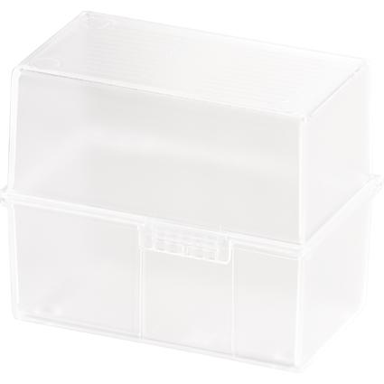 HAN Karteikasten, DIN A7 quer, Kunststoff, weiß-transluzent