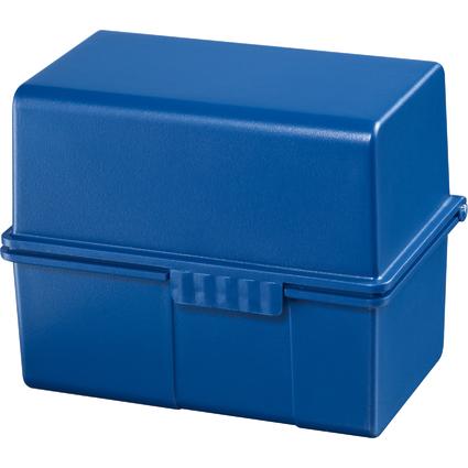 HAN Karteikasten, DIN A8 quer, Kunststoff, blau