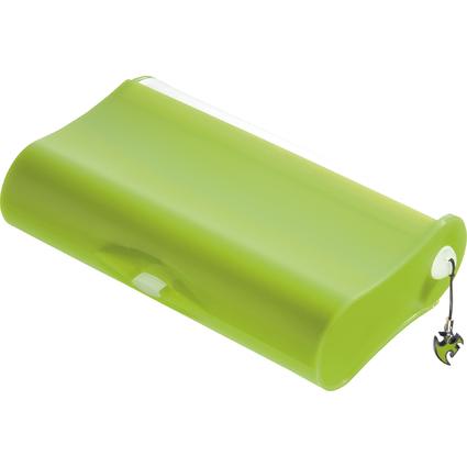 HAN Schüleretui 3-FACH-COOL, Kunststoff, grün-transluzent