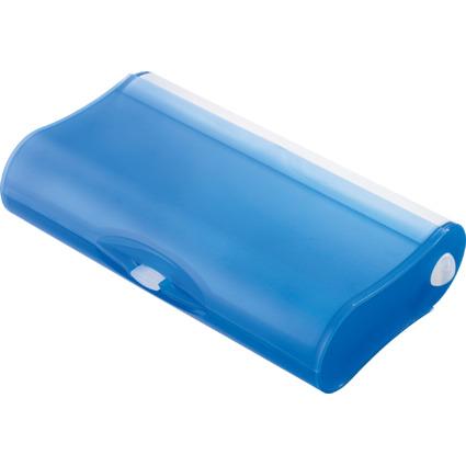 HAN Schüleretui 3-FACH-COOL, Kunststoff, blau-transluzent