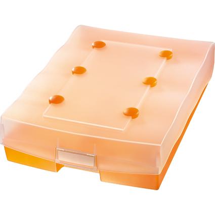 HAN Lernkartei CROCO DUO, A8, Unterteil: orange-transluzent