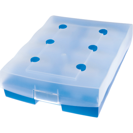 HAN Lernkartei CROCO DUO, A8, Unterteil: blau-transluzent
