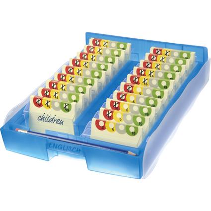 HAN Lernkartei CROCO 2-6-19, DIN A8, Unterteil: blau-