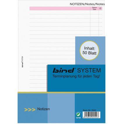 bind Ersatzeinlagen Notizblätter Manager, A5, liniert
