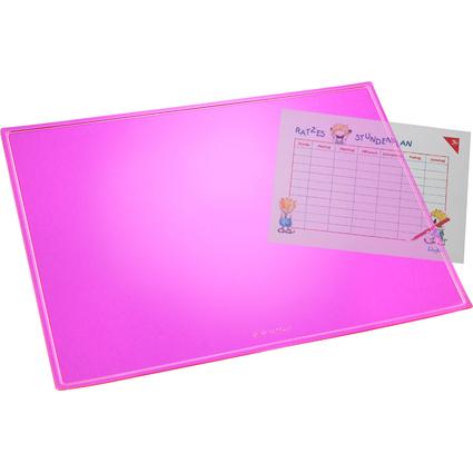 Läufer Schreibunterlage DURELLA TRANSLUZENT NEON, pink
