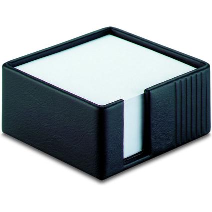 Läufer Zettelbox LA LINEA, aus Leder, 500 Blatt, weiß