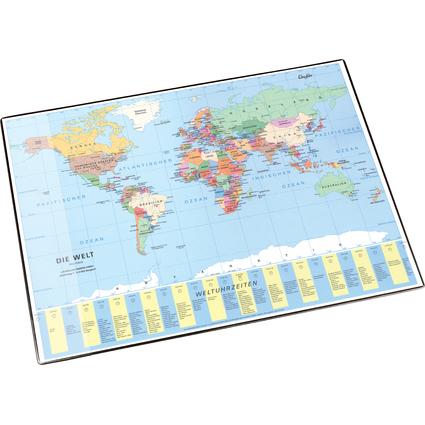 Läufer Schreibunterlage Welt politisch, 400 x 530 mm