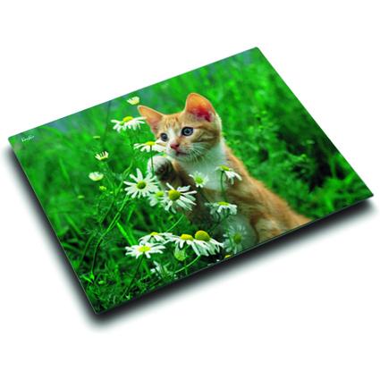 Läufer Schreibunterlage Katze mit Blume, 400 x 530 mm