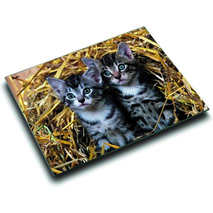 Läufer Schreibunterlage Katzen im Stroh, 400 x 530 mm