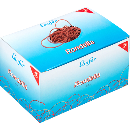 Läufer RONDELLA Gummiringe im Karton - 1.000 g, rot