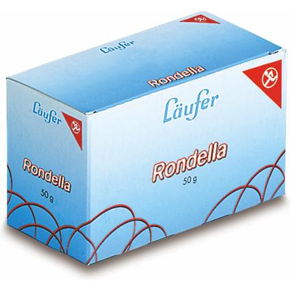 Läufer RONDELLA Gummiringe im Karton, 65 mm, 50 g, rot