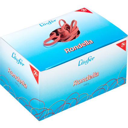Läufer RONDELLA Gummibänder im Karton, 1.000 g, 80 x 2 mm