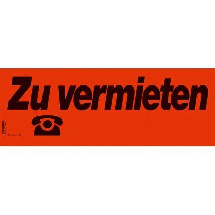 """RNK Verlag Hinweisschild """"Zu vermieten"""", (B)530 x (H)190 mm"""