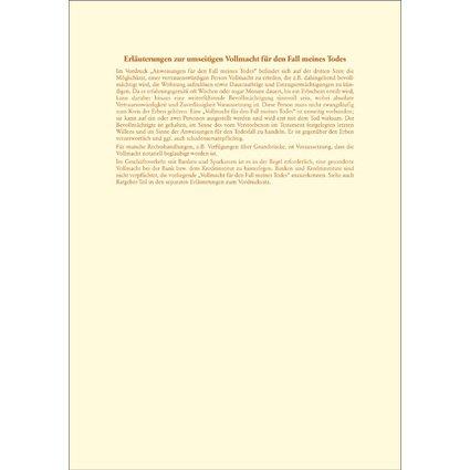 """RNK Verlag Vordruck """"Testament Brief"""", 220 x 162 mm"""