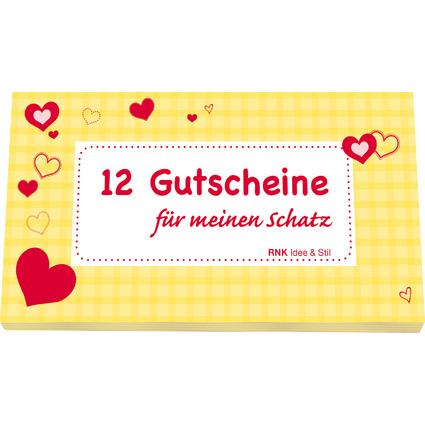 """RNK Verlag Gutscheinheft """"Für meinen Schatz"""", gelb"""