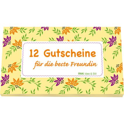 """RNK Verlag Gutscheinheft """"Für die beste Freundin"""", gelb"""