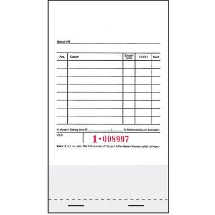 RNK Verlag Kassenblock, für Registrierkassen, 96 x 175 mm