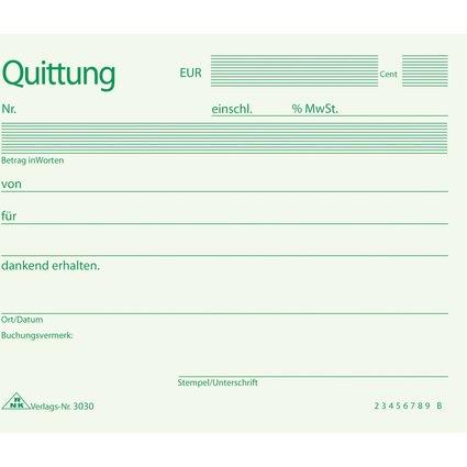 RNK Verlag Quittung, Block, DIN A6 quer, 50 Blatt