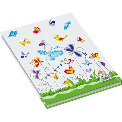 """RNK Verlag Notizbuch """"Schmetterlinge"""", DIN A4, kariert"""