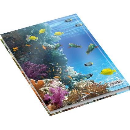 """RNK Verlag Notizbuch """"Unten im Meer"""", DIN A4, kariert"""