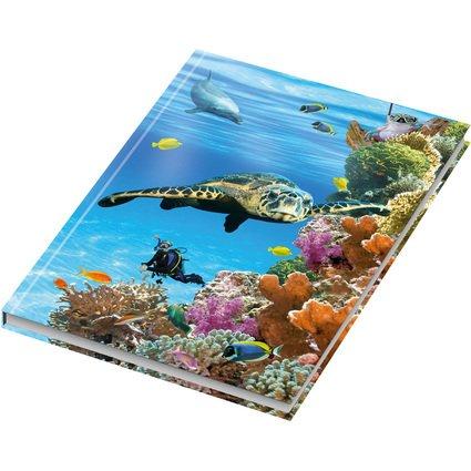 """RNK Verlag Notizbuch """"Unten im Meer"""", DIN A5, kariert"""