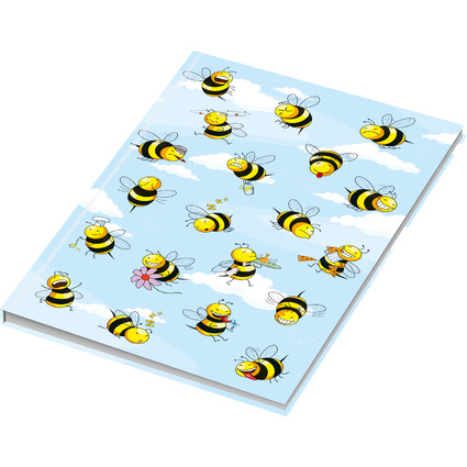 """RNK Verlag Notizbuch """"Crazy Bees"""", DIN A5, kariert"""