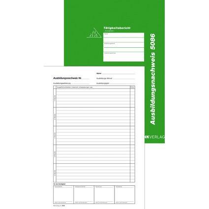 RNK Verlag Ausbildungsnachweis-Block, monatlich, DIN A4