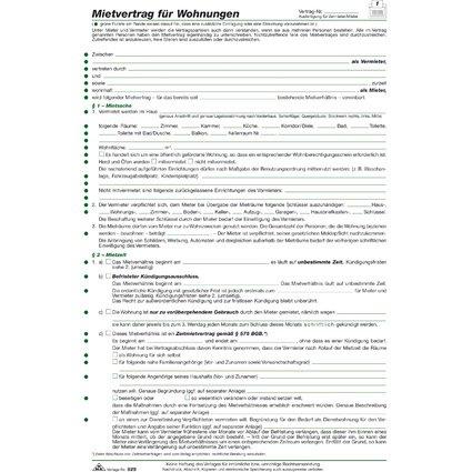 """RNK Verlag Vordruck """"Mietvertrag für Wohnungen"""", DIN A4"""