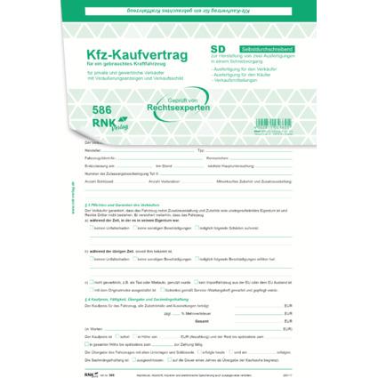 """RNK Verlag """"Kaufvertrag für ein gebrauchtes Kraftfahrzeug"""""""