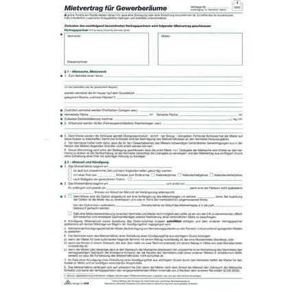 """RNK Verlag Vordruck """"Mietvertrag für Gewerberäume"""", DIN A4"""