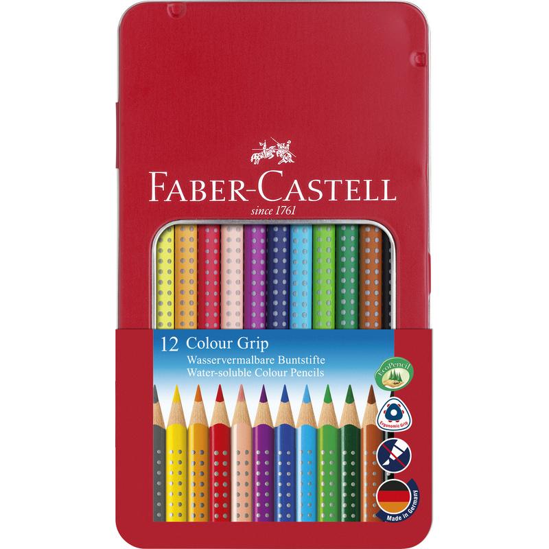 fabercastell dreikantbuntstifte colour grip 12er etui