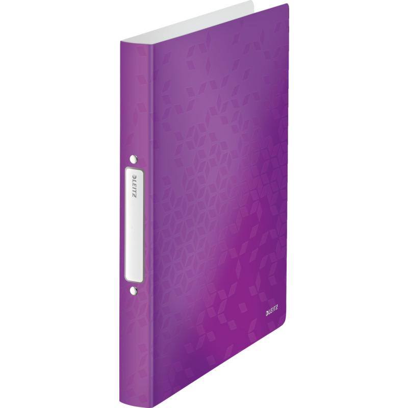 violett PP 25 mm Leitz 4257 Ringbuch WOW 2 Ringe A4