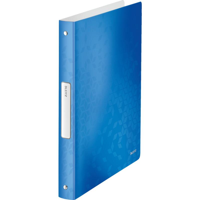 leitz ringbuch wow din a4 pp blau metallic 4 ringe 4258 00 36 bei g nstig. Black Bedroom Furniture Sets. Home Design Ideas