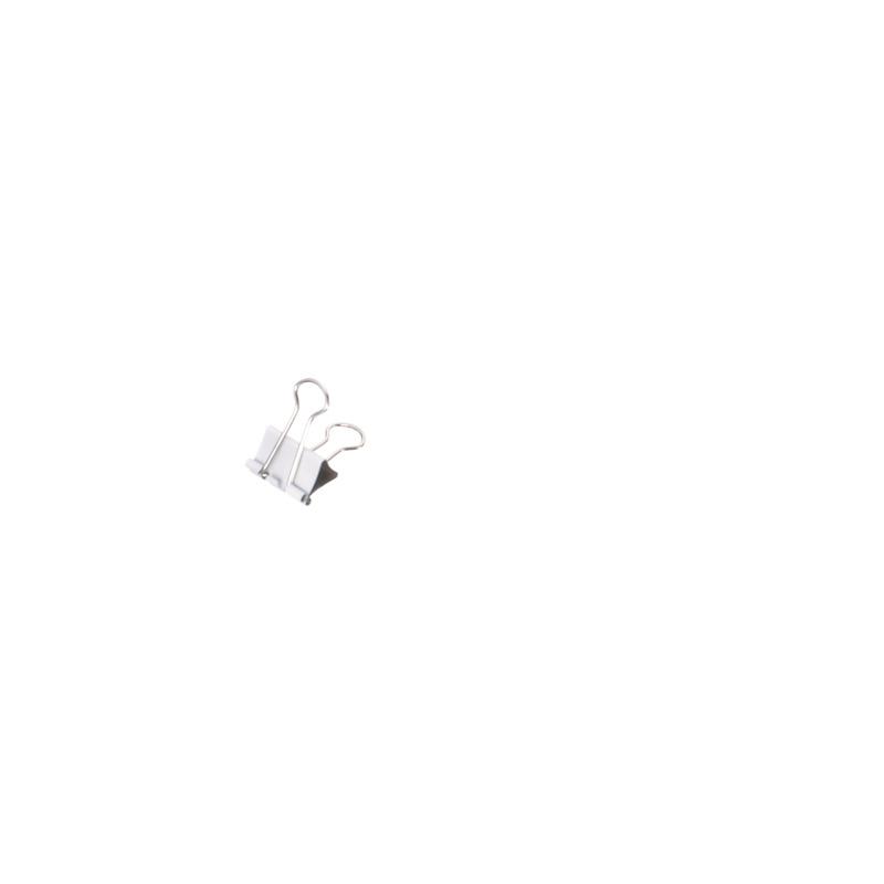 B weiß, 19 mm MAUL mauly 214 Foldback-Klammer