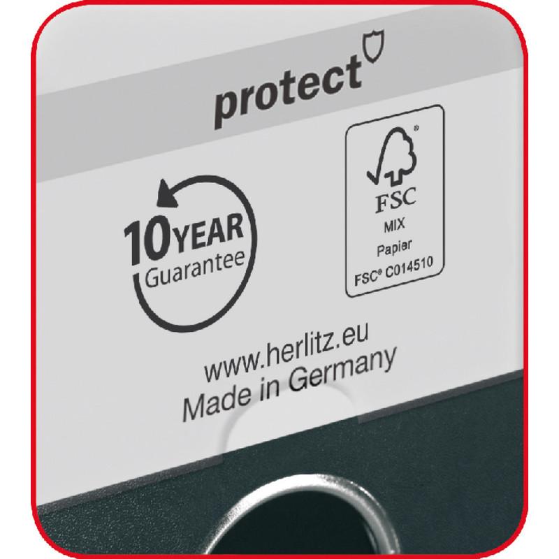 50 mm türkis herlitz Ordner maX.file protect Rückenbreite
