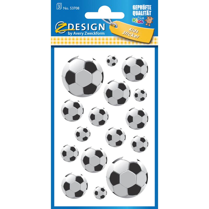 "AVERY Zweckform ZDesign KIDS Sticker /""Fußball/"" 3 Blatt à 16 Sticker"