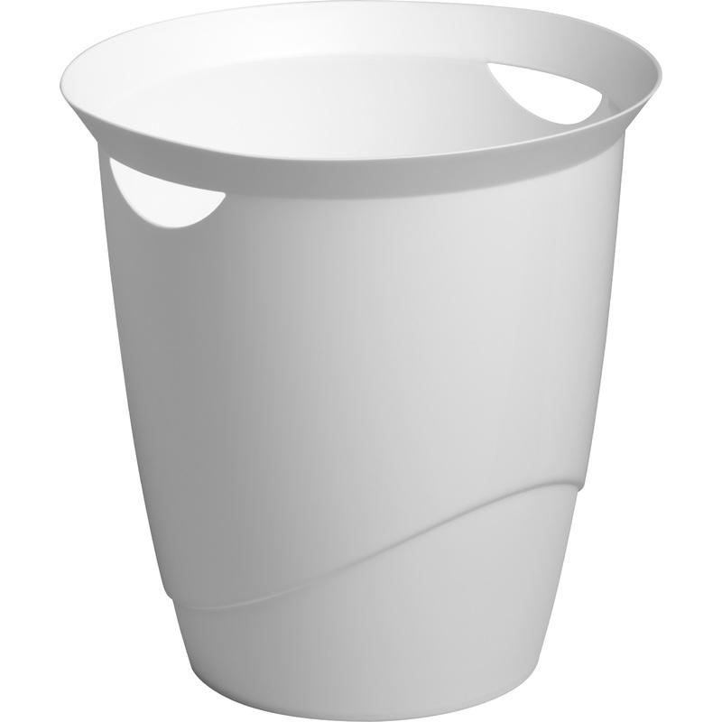 DURABLE Papierkorb TREND, 16 Liter, rund, weiß 1701710010