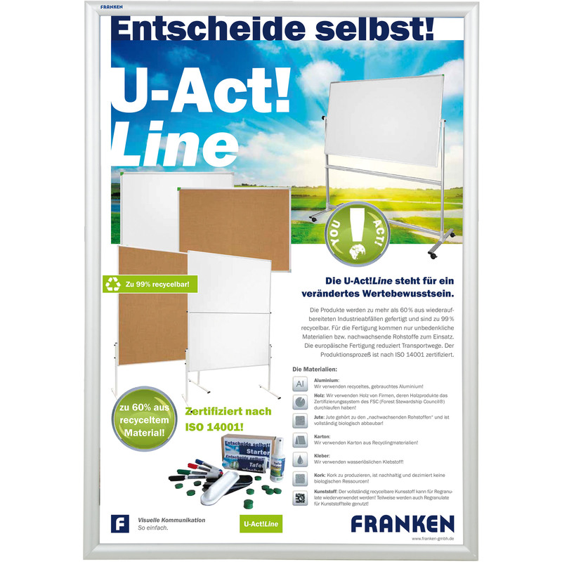FRANKEN Plakatrahmen Security, feuerfest, DIN A1 BS1804 bei www ...