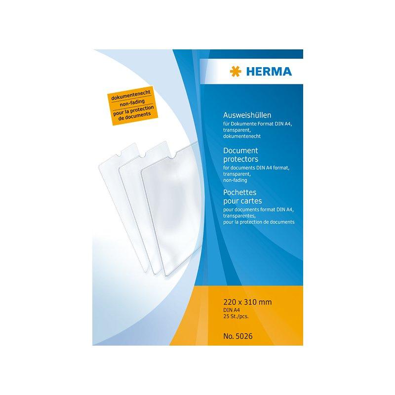 HERMA Ausweishülle PP 1-fach 0,14 mm DIN A4 220 x 310 mm 1 Hülle