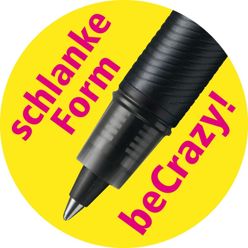 STABILO Tintenroller beCrazy Uni Colors schwarz