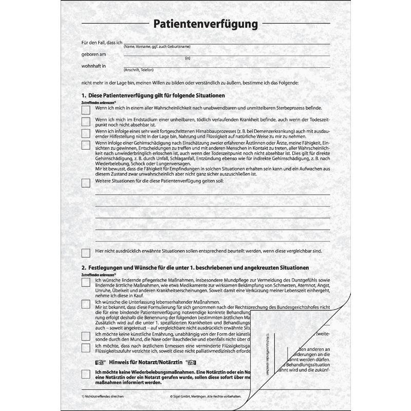 patientenverfügung formular