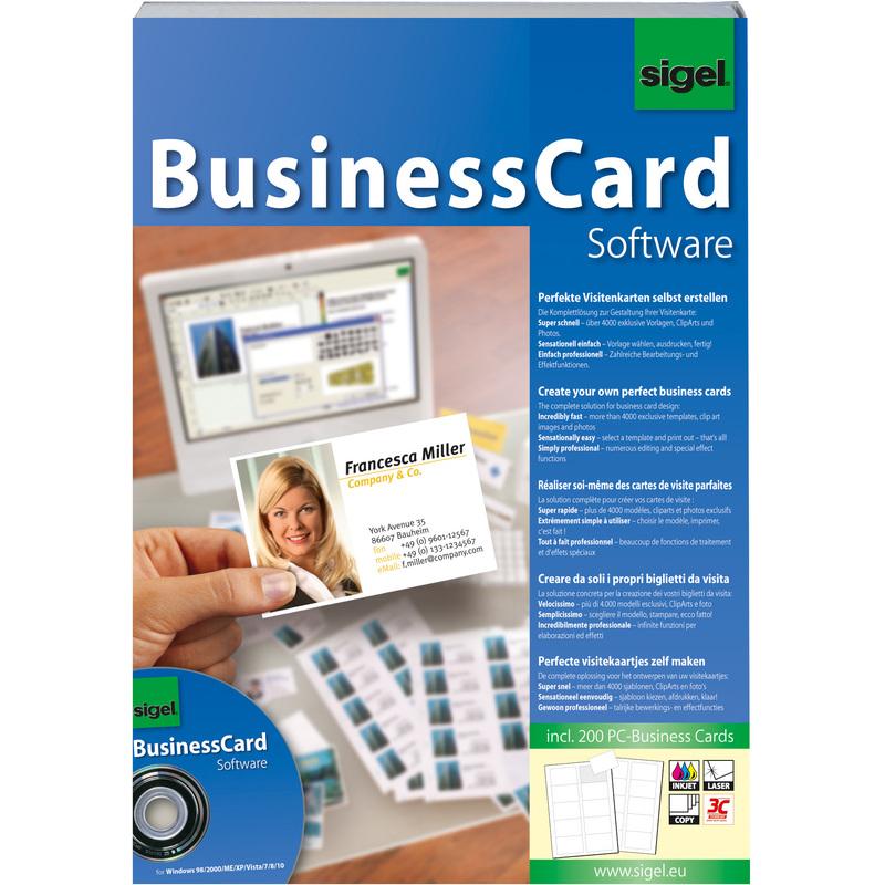 Sigel Businesscard Gestaltungssoftware Für Visitenkarten