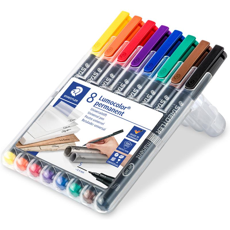 staedtler lumocolor permanent marker 313s 8er etui 313 wp8 bei g nstig kaufen. Black Bedroom Furniture Sets. Home Design Ideas